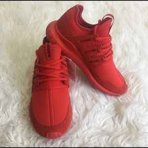 NWT Rare all Red Adidas Tubular Radial womens 7.5 NWT